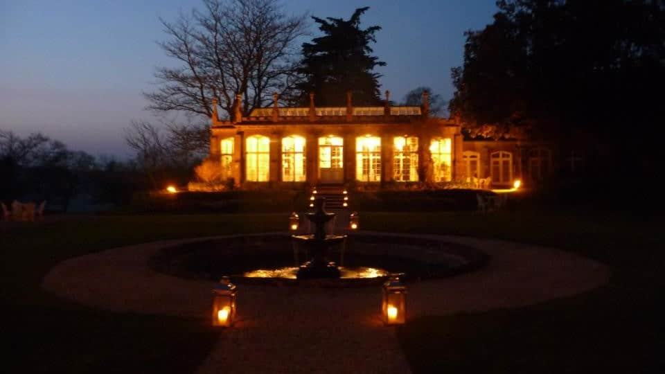St Audries Park - The Orangery at night