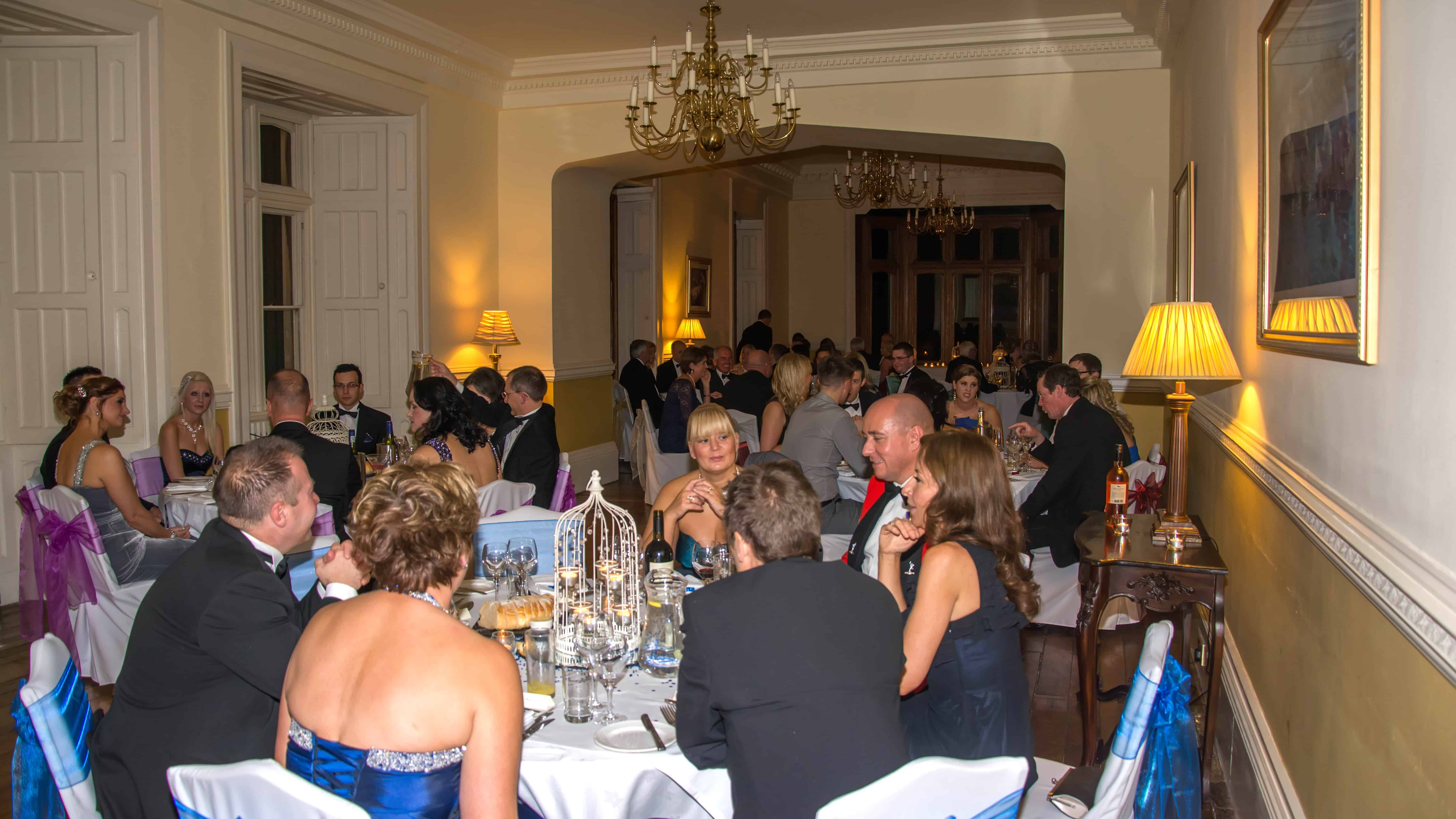 St Audries Park Candlelit Ball - Seated Guests