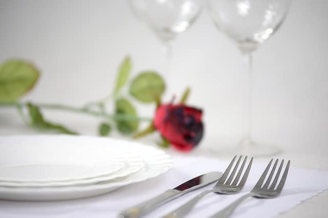 An elegantly set out table