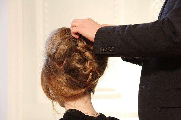Hair being styled