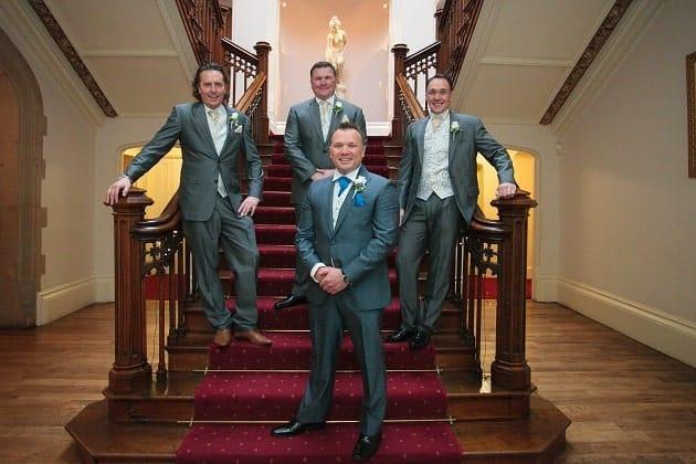 Groom in wedding suit