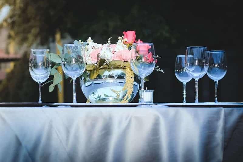 See Through Wedding Settings
